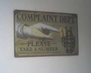 Complaint Dept.